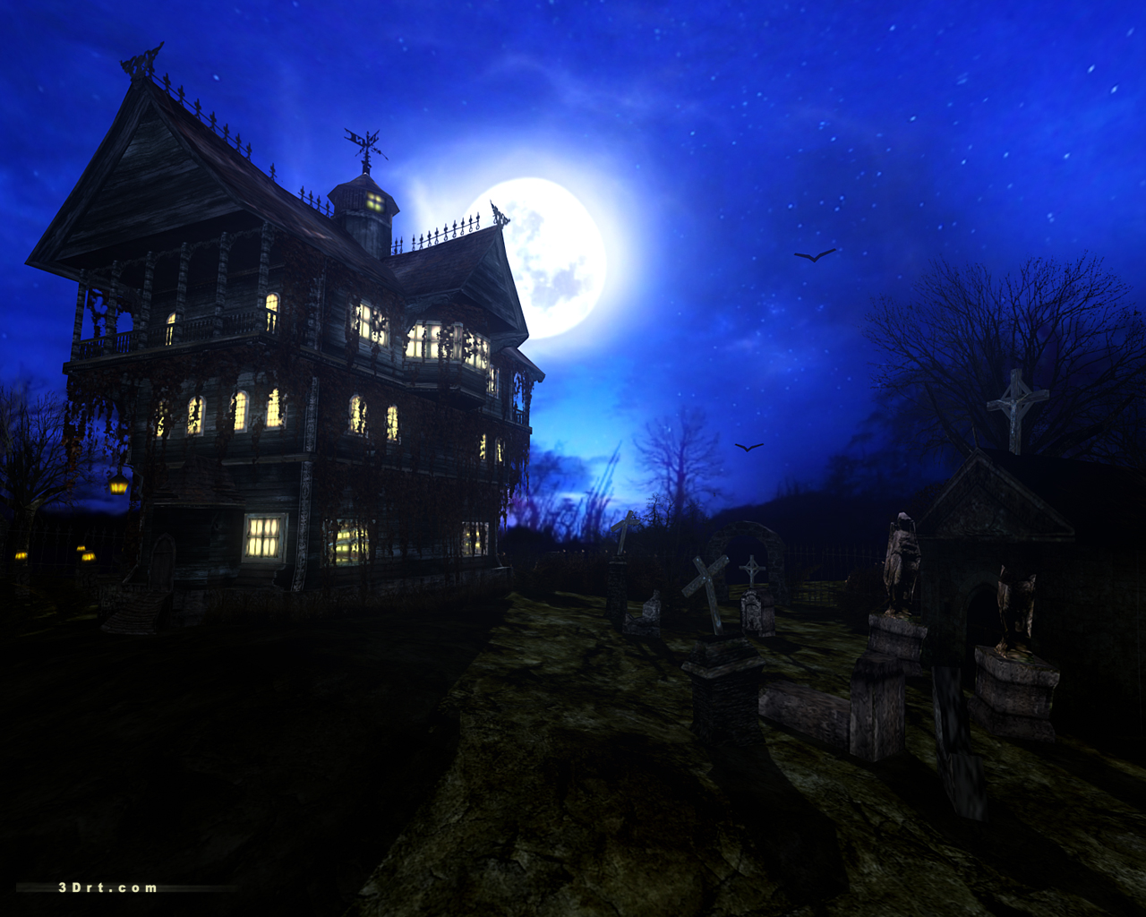 Dark Forest Mansion Screensaver
