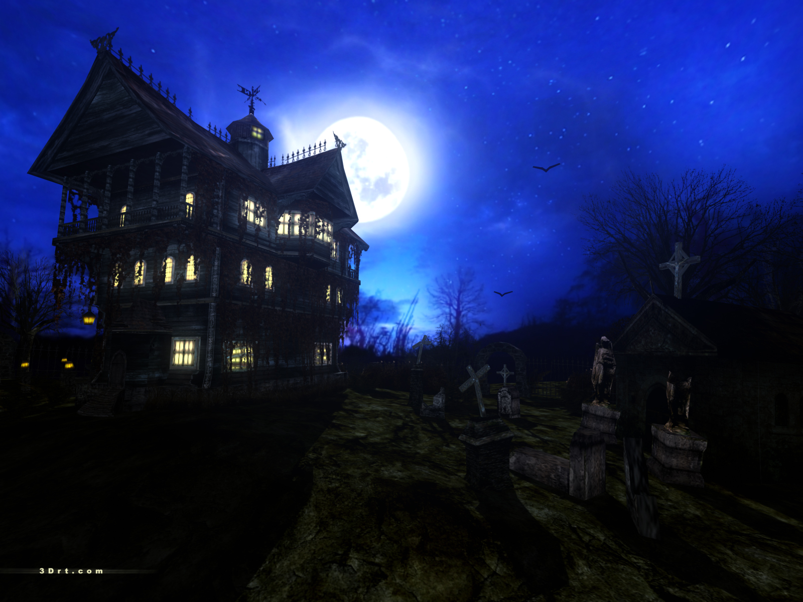 haunted house wallpaper - photo #26